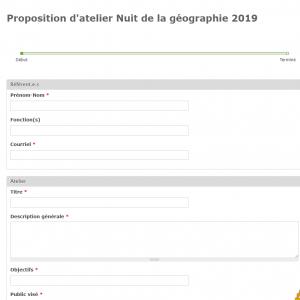 Bulletin à compléter pour la nuit de la géographie 2019